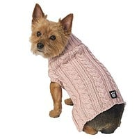 Marley's Rose Cable Dog Sweater