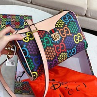 GUCCI Pop Candy Series Fashion Women Men Leather Shoulder Bag Crossbody Satchel