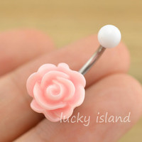 rose belly button jewelry,cute flower belly button rings,rose navel ring,rose piercing belly ring,friendship gift