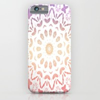 Ombre Mandala Purple Red iPhone & iPod Case by ALLY COXON