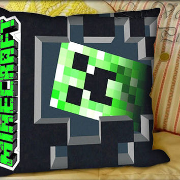 Minecraft Creeper - Pillow Cover and Pillow Case.