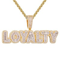 Hip Hop Loyalty Baguette Double Layer Icy Pendant