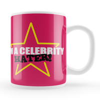 Celebrity Hater White Ceramic Mug by Chargrilled