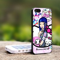 Tokidoki Hello Kitty - For iPhone 4,4S Black Case Cover