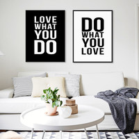 Minimalist Black White Motivational Typography Love Quotes A4 Poster Print Vintage Picture Canvas Painting Wall Art Home Decor