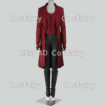Scarlet Witch Wanda Maximoff Cosplay Costume from Captain America III Civil War