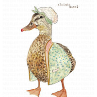 alright duck A3 print