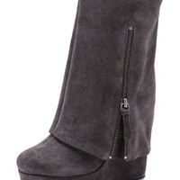 Yeardley Suede Cuff Boots