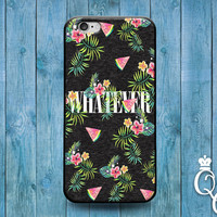 iPhone 4 4s 5 5s 5c 6 6s plus + iPod Touch 4th 5th 6th Gen Funny Phone Case Watermelon Quote Cute Fruit Collage Whatever Weird Cool Cover