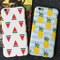 Pineapple Watermelon iPhone 5s 5se 6 6s Plus Case Best Solid Cover + Gift Box 391