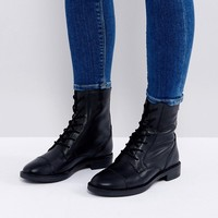 ASOS ANYWHERE Leather Lace Up Boots at asos.com