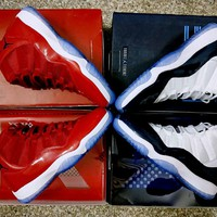 "Air Jordan 11 ""Midnight Navy"" n ""Gym Red"" Basketball Shoes US5.5-13"
