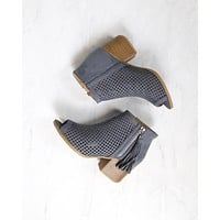 Olivia Perforated Ankle Booties in More Colors