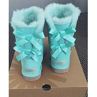 """UGG"" Winter Warm Fashion Women Men KnotBow Wool Snow Boots I"