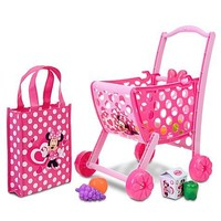 Disney Store Minnie Mouse Shopping Cart with Accessories