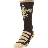 NEW ORLEANS SAINTS PATCHES QUARTER LENGTH SOCKS SIZE LARGE NEW FOR BARE FEET