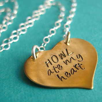 Howl's Moving Castle Necklace  Howl Ate My by SpiffingJewelry