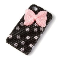 Pink Pearl Bow iPhone Cover for 4 and 4S | Claire's