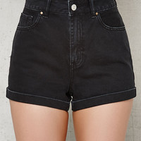 PacSun Sabbath Cuffed Denim Mom Shorts at PacSun.com