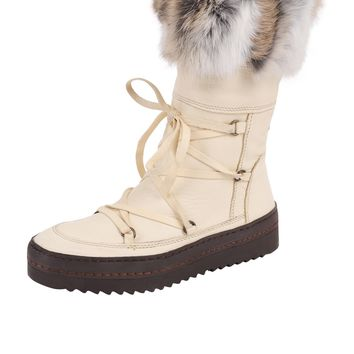 Manas Lace Up Faux Fur Boot