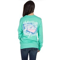 Whatever Floats Your Boat Long Sleeve Tee Shirt in Seafoam by Lauren James