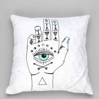 Wesley Bird For DENY Eye See Hamsa Pillow