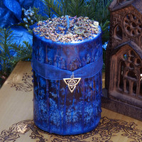 Morgan Le Fay Alchemy 2x3 Pillar Candle . Essences of Ancient Avalon . Transformation, Spirit Workings, Banishing, Justice