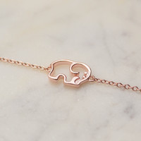 Rose Gold Outline Bracelet