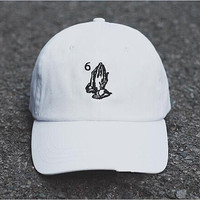 Unisex Pray 6 Hands Ovo Drake Blessed Baseball Cap Hat White or Black Caps