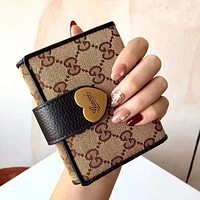 GUCCI Simple Retro Mini Flap Clutch Coin Purse Card Holder