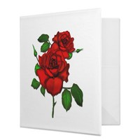 Rose Red Avery Binder from Zazzle.com