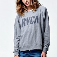 RVCA Jagged RVCA Crew Neck Sweatshirt - Womens Hoodie - Grey