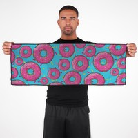 Pink Donuts Cooling Towel