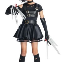 Rubie's Costume Co Edward Scissorhands Teen Miss Scissorhands Costume, Black, Medium