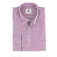 Goal Line Shirt in Purple Gingham by Southern Proper