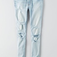 AEO Women's Denim X Cafe Jegging (Creme Blue)