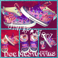 The Doc Is In!!! Custom Doc McStuffins Converse Chuck Taylors.