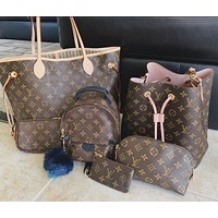 Louis Vuitton LV hot sale classic printed letters high quality two-piece shoulder bag messenger bag shopping bag Key bag