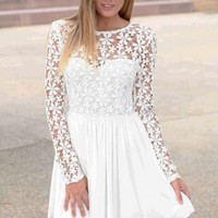 Innocent White Embroidered Princess Skater Dress - OASAP.com