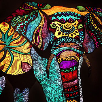 15% OFF Tribal Animal Series (Dark Background) 8x10 or 11x14 - Set of 3 Discounted Poster Prints