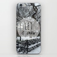 Let it snow! iPhone & iPod Skin by Louise Machado