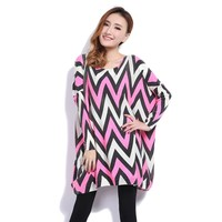 ZLYC Loose Fit Scoop Neck Shape Design Plus Size Sweater For Women
