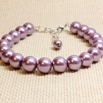 Extra Large Mauve Glass Pearl Dog or Puppy Jewelry. Purple Spring Pet Bling. Great for Large Dogs. Metallic Purple Pet Collar for Pooch
