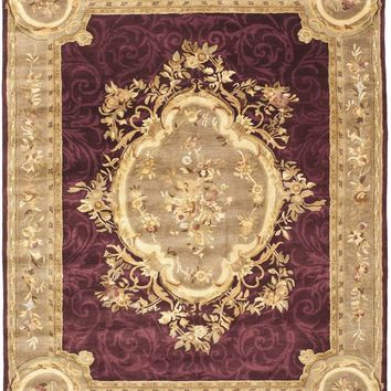 Empire Traditional Indoorarea Rug Dark Red / Dark Beig