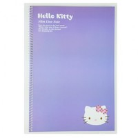 Hello Kitty Slim Line College Ruled Spiral Notebook : Violet $2.99