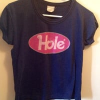 Vintage 90s HOLE Band Concert Babydoll Tee (Courtney Love)