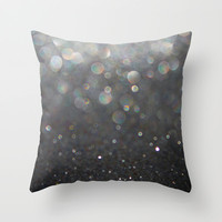 There Can Be No Light (Ombré Glitter Abstract) Throw Pillow by soaring anchor designs ⚓ | Society6