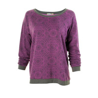 Alternative Womens Printed Boatneck Sweatshirt