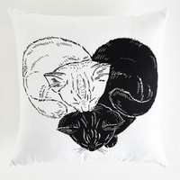 Cats In the Throws of Love Pillow by ModCloth