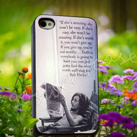 Bob Marley Quotes - for iPhone 4/4s, iPhone 5/5s/5C, Samsung S3 i9300, Samsung S4 i9500 Hard Plastic Case